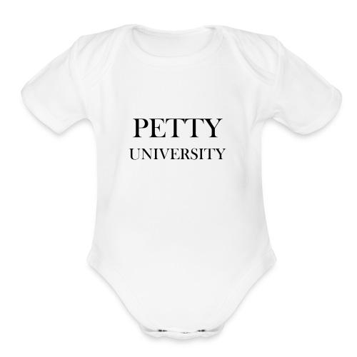 Petty University - Organic Short Sleeve Baby Bodysuit