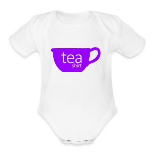 Tea Shirt Simple But Purple - Short Sleeve Baby Bodysuit