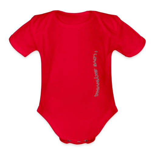 I love skydiving/T-shirt/BookSkydive - Organic Short Sleeve Baby Bodysuit
