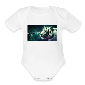 White_tiger - Short Sleeve Baby Bodysuit