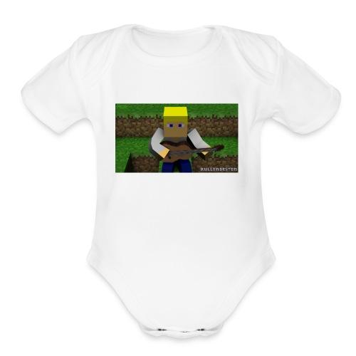 Mc rullendesten - Organic Short Sleeve Baby Bodysuit