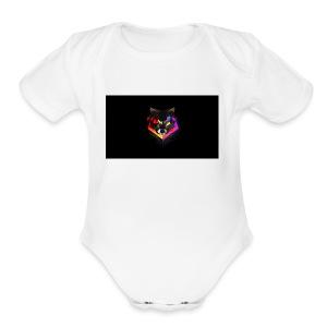 wolf - Short Sleeve Baby Bodysuit