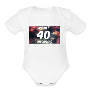 Lankydiscmaster's 40 subs shirt and more - Short Sleeve Baby Bodysuit