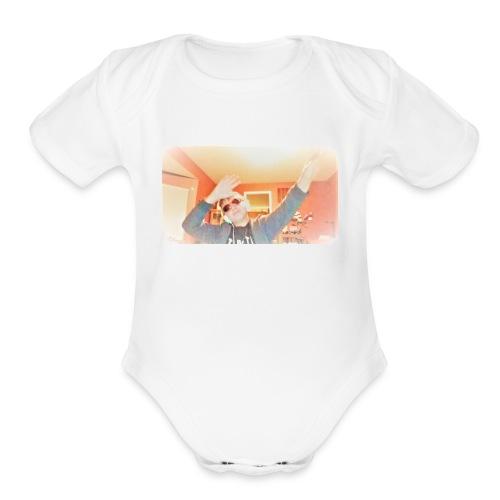 dab douchebagtv - Organic Short Sleeve Baby Bodysuit