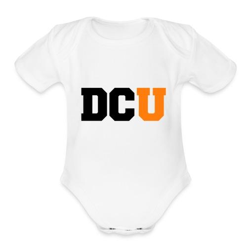 DCU Logo - Organic Short Sleeve Baby Bodysuit