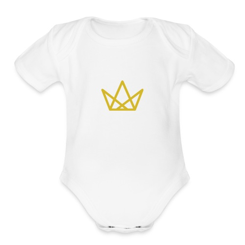 The Gold Crown - Organic Short Sleeve Baby Bodysuit
