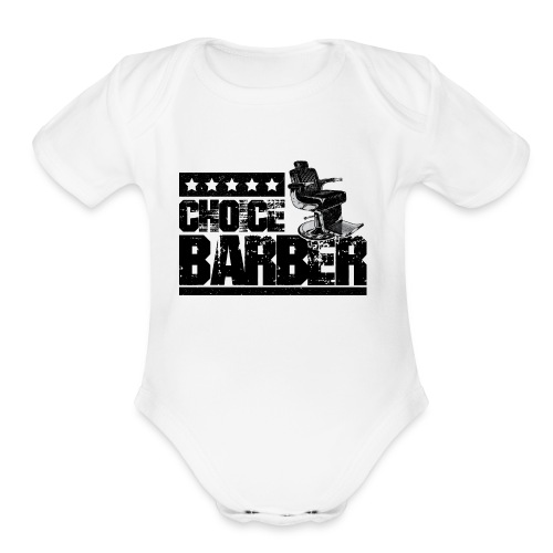 Choice Barber 5-Star Barber - Black - Organic Short Sleeve Baby Bodysuit