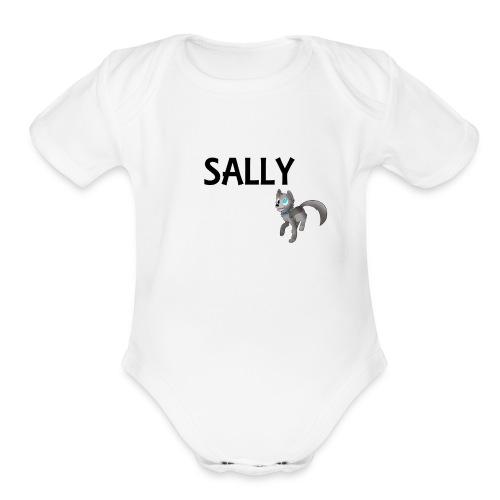 silly sally T-Shirt - Organic Short Sleeve Baby Bodysuit