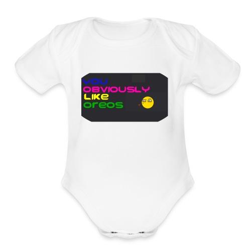 It's a wrong interpretation of Y-O-L-O - Organic Short Sleeve Baby Bodysuit