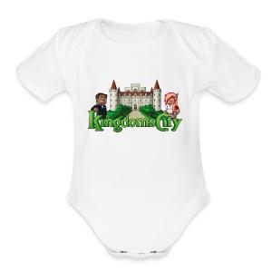 KingdomsCity Logo - Short Sleeve Baby Bodysuit