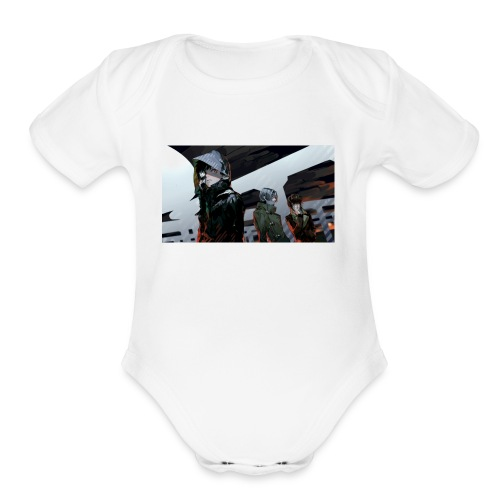tokyo ghoul kaneki ken guys art 99764 2560x1440 - Organic Short Sleeve Baby Bodysuit