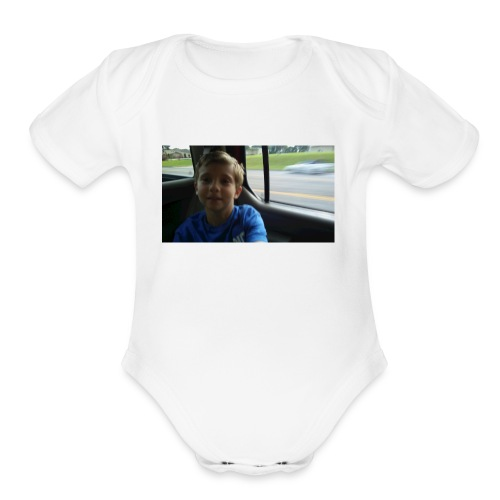 MATTHEW - Organic Short Sleeve Baby Bodysuit