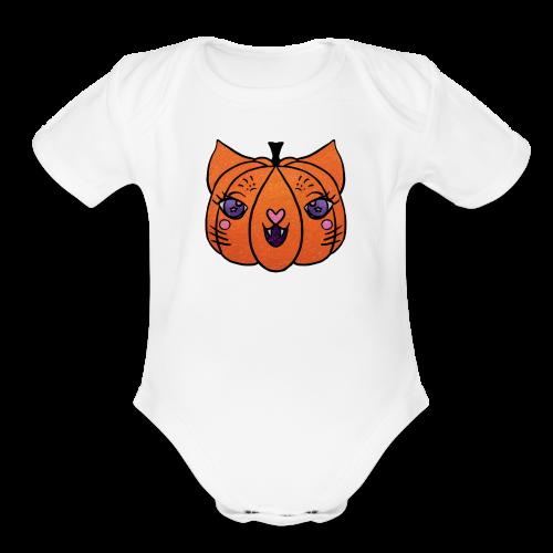 Happy Meowlloween! - Organic Short Sleeve Baby Bodysuit