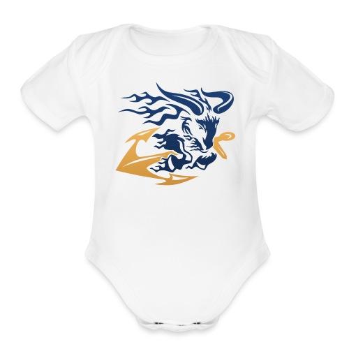 Goat with Anchor - Organic Short Sleeve Baby Bodysuit