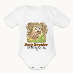 Beauty Everywhere -ORANGE- Carolyn Sandstrom - Short Sleeve Baby Bodysuit
