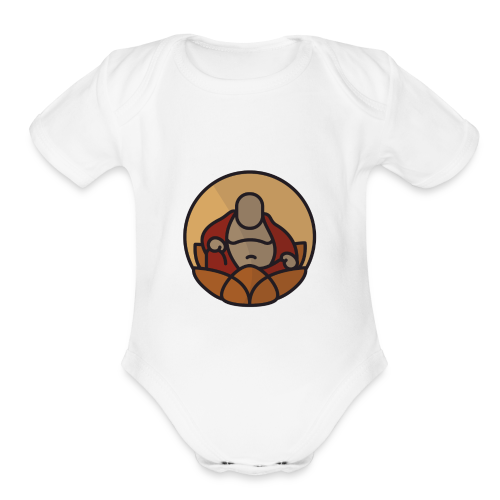 AMERICAN BUDDHA CO. COLOR - Organic Short Sleeve Baby Bodysuit