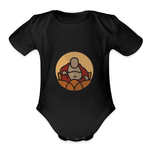 AMERICAN BUDDHA CO. COLOR - Organic Short Sleeve Baby Bodysuit