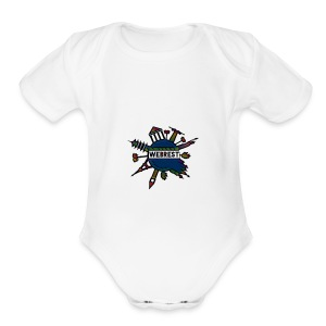 We all live in this world - Short Sleeve Baby Bodysuit