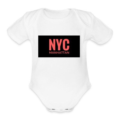 NYC Fan Love - Organic Short Sleeve Baby Bodysuit