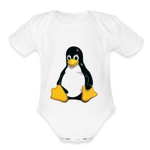Tux - Short Sleeve Baby Bodysuit