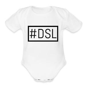 DSL Main Logo - Short Sleeve Baby Bodysuit