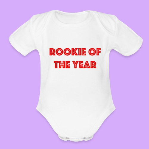 rookiered png - Organic Short Sleeve Baby Bodysuit