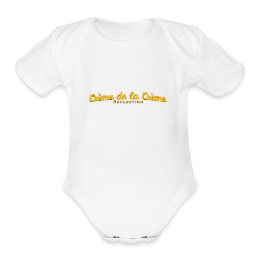 cr--me_de_la_cr--me_logo - Organic Short Sleeve Baby Bodysuit