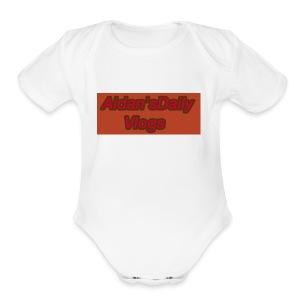 Aidan'sDailyVlogs Tshirts style#2 - Short Sleeve Baby Bodysuit