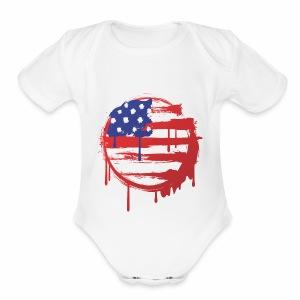 usa bleed - Short Sleeve Baby Bodysuit