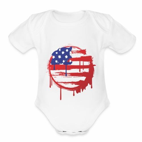 usa bleed - Organic Short Sleeve Baby Bodysuit