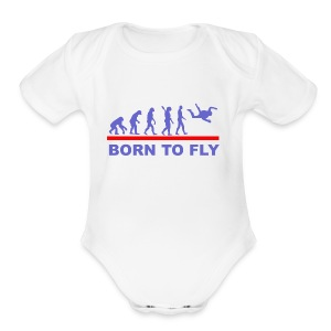 Born to fly2 - Short Sleeve Baby Bodysuit