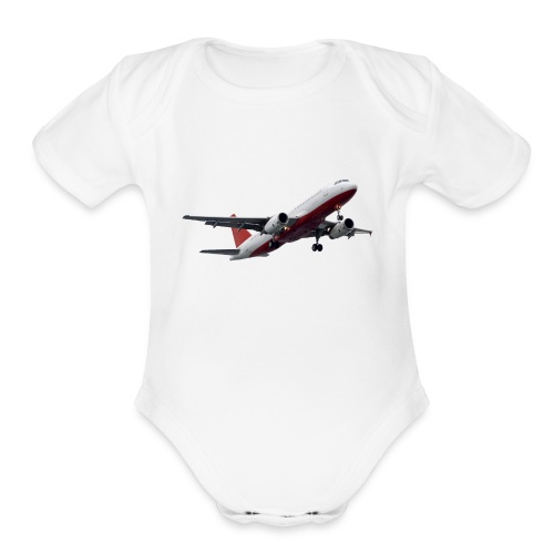 Plane - Organic Short Sleeve Baby Bodysuit