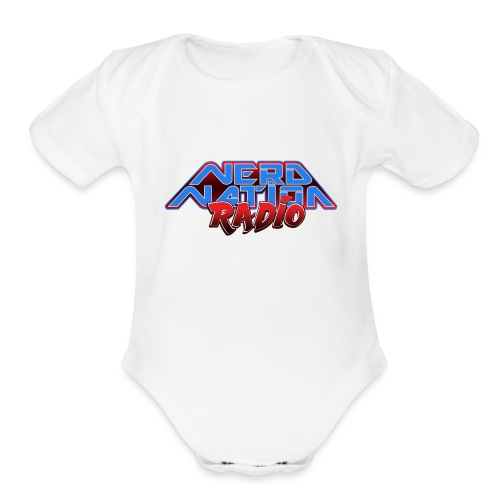 Nerd Nation Logo - Organic Short Sleeve Baby Bodysuit