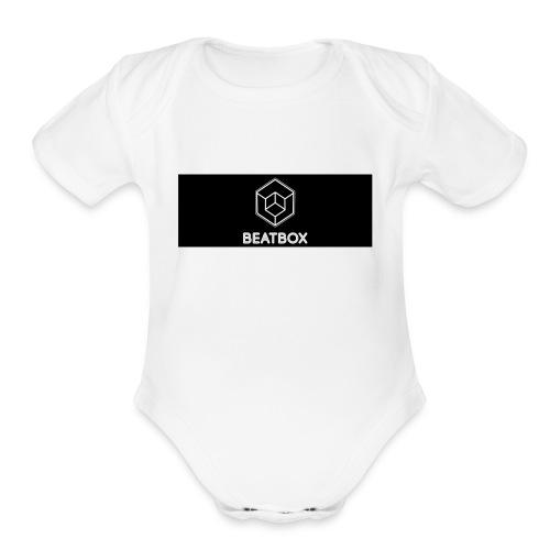 BeatBox logo - Organic Short Sleeve Baby Bodysuit