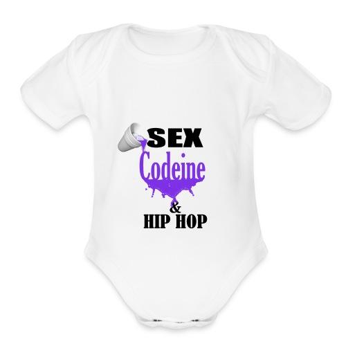sex codeine hip hop - Organic Short Sleeve Baby Bodysuit