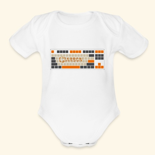 Carbon - Organic Short Sleeve Baby Bodysuit