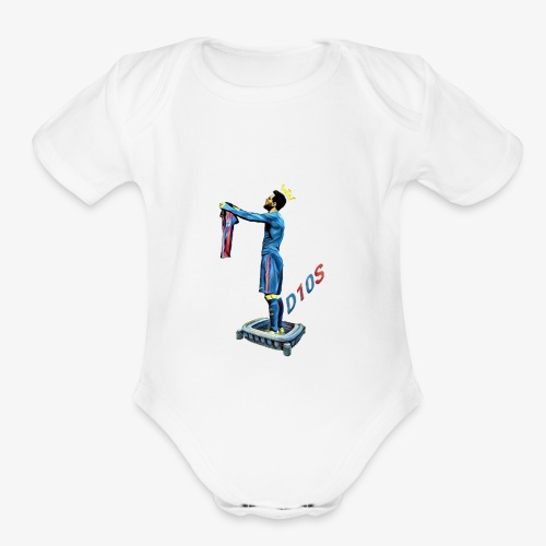 Love story 4 all G.O.A.T. fans out there! - Organic Short Sleeve Baby Bodysuit