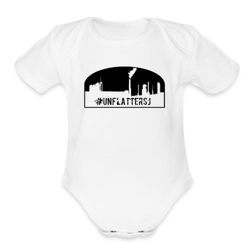 Unflatter Hashtag logo - Organic Short Sleeve Baby Bodysuit