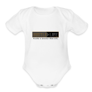 Hustle_Life - Short Sleeve Baby Bodysuit