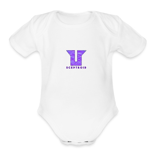 Old ScepTroid Logo Sweatshirt! - Organic Short Sleeve Baby Bodysuit