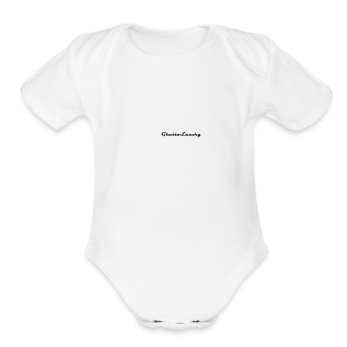 ghettoluxurylogo - Organic Short Sleeve Baby Bodysuit