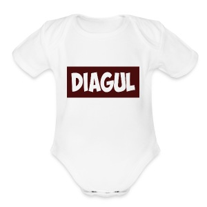 Diagul shirt - Short Sleeve Baby Bodysuit