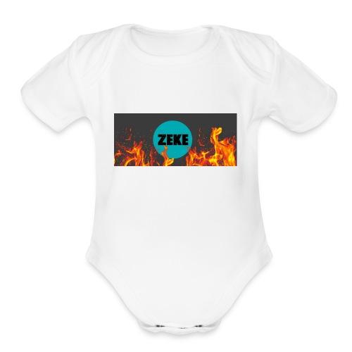 Zeke Logo Shirt - Organic Short Sleeve Baby Bodysuit