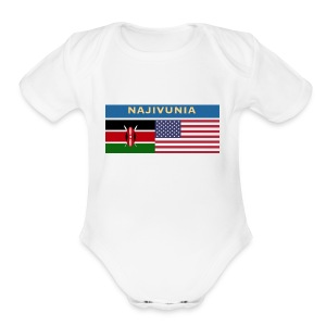 NAJIVUNIA - Short Sleeve Baby Bodysuit