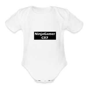 CR7 Fan and Ninja - Short Sleeve Baby Bodysuit