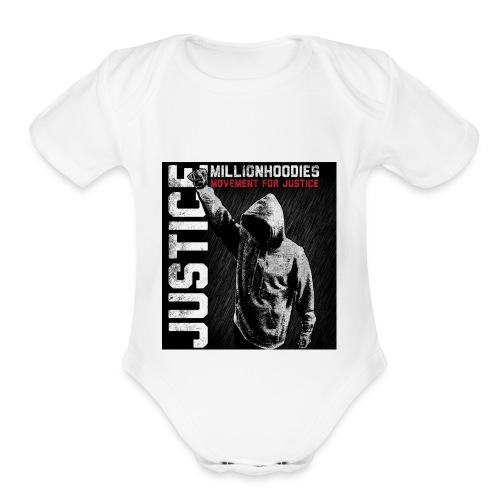 MHJ Justice - Organic Short Sleeve Baby Bodysuit
