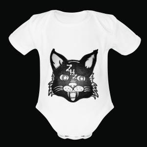 Lunar Cat - Short Sleeve Baby Bodysuit