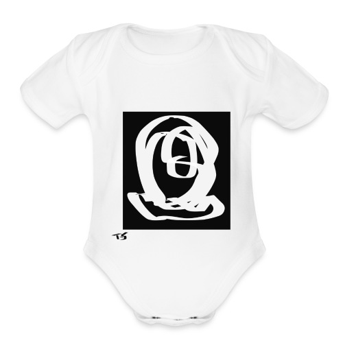 The head - Organic Short Sleeve Baby Bodysuit