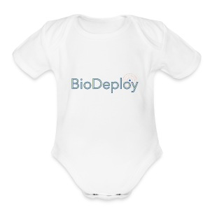 BioDeploy Logo Blue Mix - Short Sleeve Baby Bodysuit