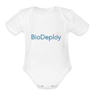 BioDeploy Logo Deep Blue - Short Sleeve Baby Bodysuit